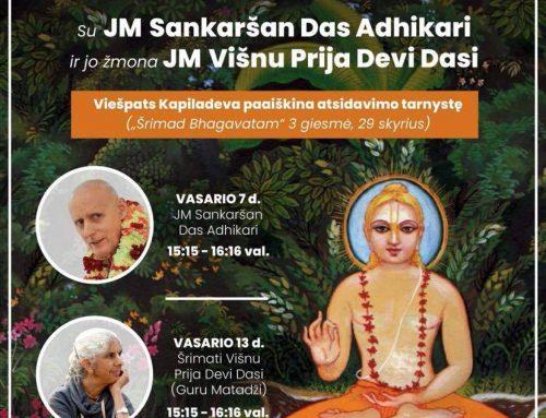 Šrimad Bhagavatam paskaita su JM Sankaršan das Adhikari ir JM Višnu Prija matadži