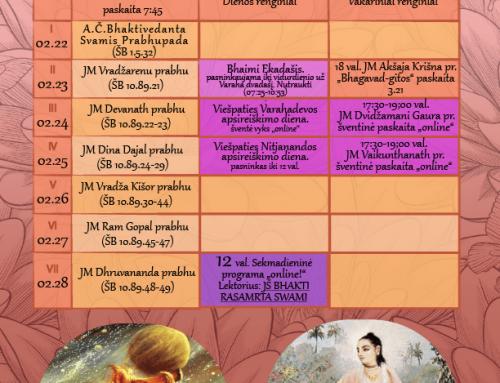 Savaitės programa 02.22-02.28
