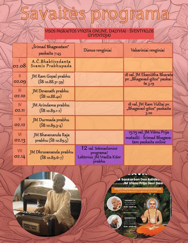 Srimad Bhagavatam, Bhagavad-gita, Srimati Visnu Prija mataji