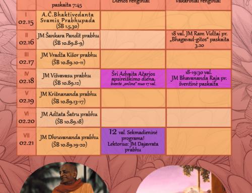 Savaitės programa 02.15-02.21