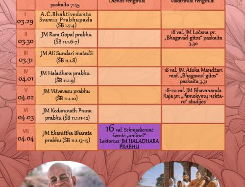 Savaitės programa 03.29-04.04