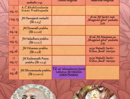 Savaitės programa 04.12-04.18