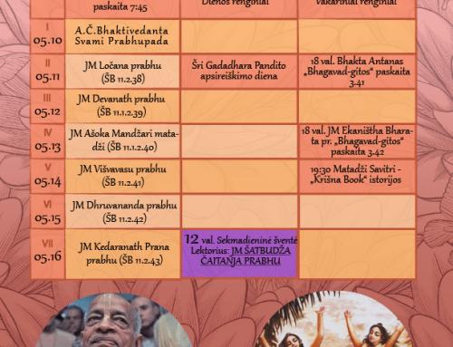 Savaitės programa 05.10-05.16