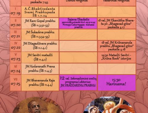 Savaitės programa 07.19-07.25