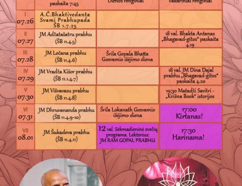 Savaitės programa 07.26-08.01