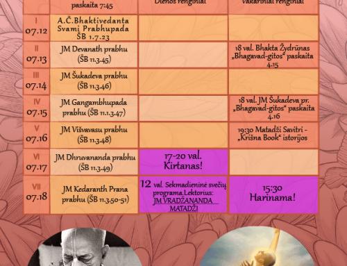 Savaitės programa 07.12-07.18