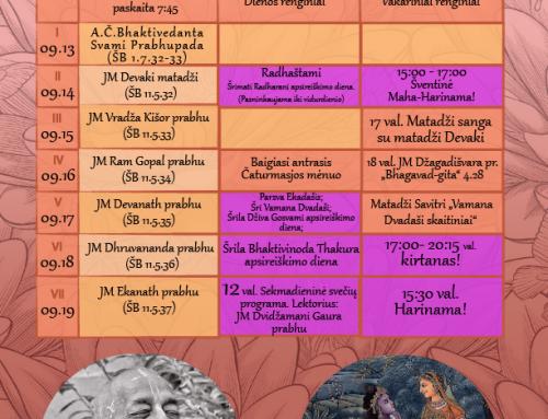 Savaitės programa 09.13-09.19